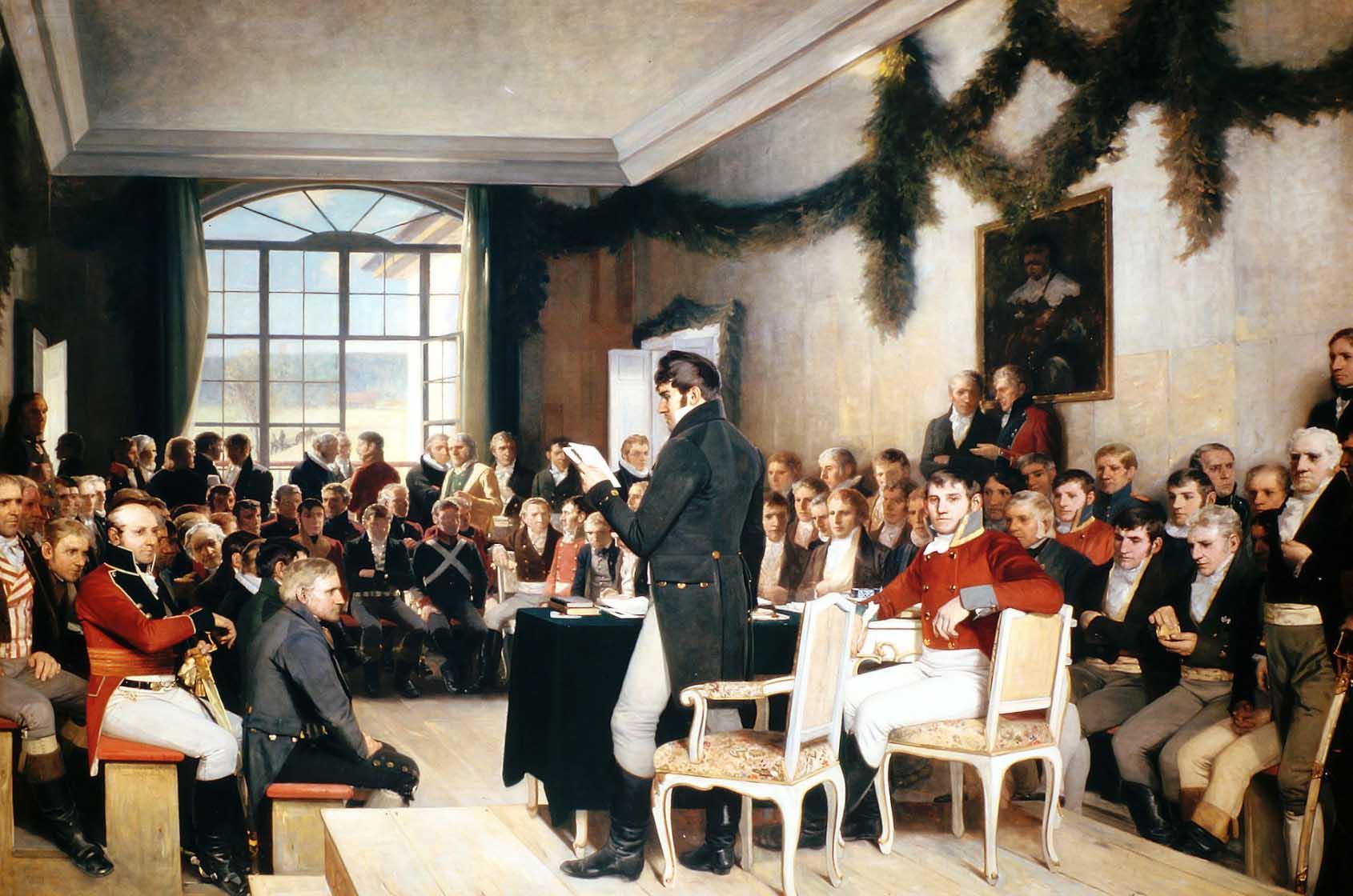 Eidsvoll 1814 av Oscar Wergeland